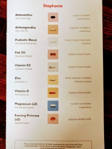 Monthly booklet detailing all of the supplements you selected