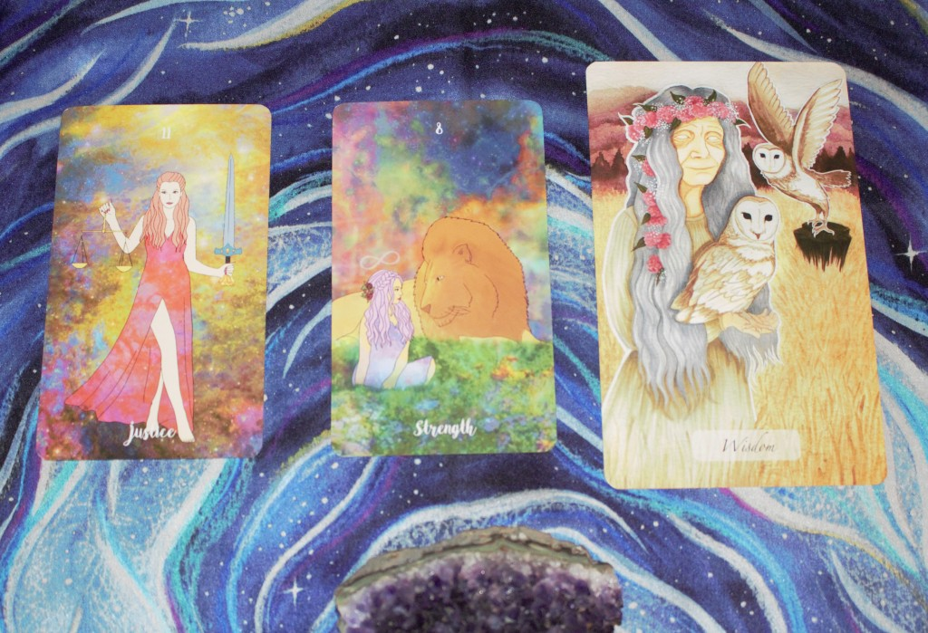 Vagabond Wild Tarot cards and Awakened Soul Oracle cards in a Tarot and Oracle reading